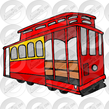 Trolley Picture For Classroom   Therapy Use   Great Trolley Clipart