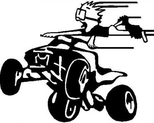 Four Wheeler Clip Art : Atv silhouette clipart suggest