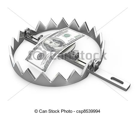 Bear Trap Isolated On White Background Csp8539994   Search Clip Art