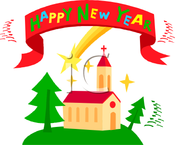 Christian Happy New Year Clip Art