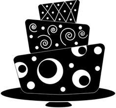 Clip Art Google Search More Card Art Black And White Black White Cakes