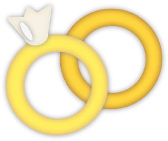 Clip Art Of A Pair Of Gold Wedding Rings