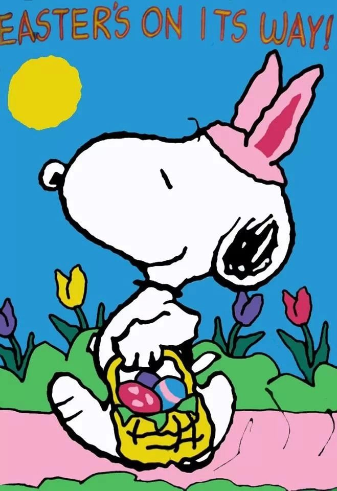 Easter Snoopy   Peanuts   Pinterest