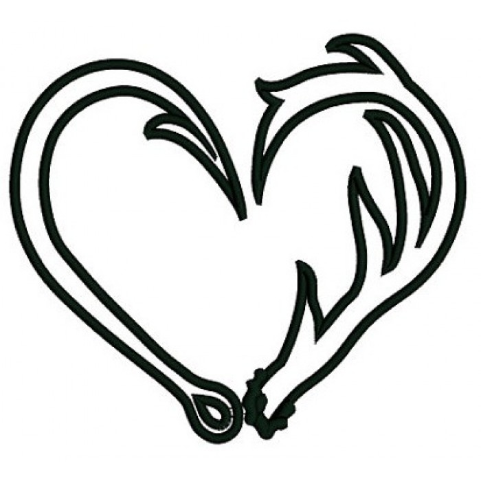 Heart Fish Hook Clipart - Clipart Kid