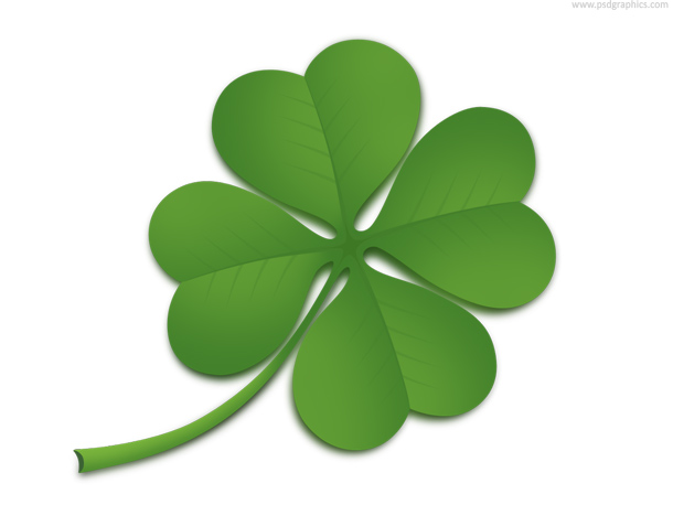 Four Leaf Clover Symbol Of Good Luck  Download Layered Psd Source