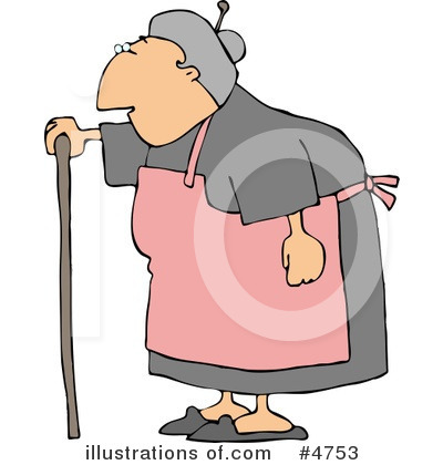 Funny Old Lady Clip Art