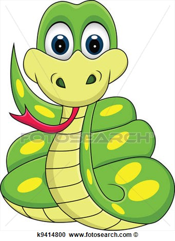 Funny Snake Cartoon View Large Clip Art Graphic