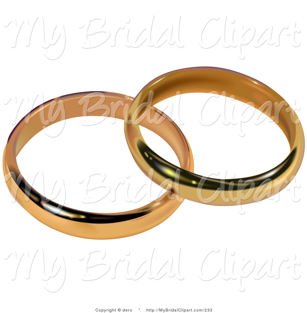 Gold Bridal Wedding Bands Resting Together Bridal Clip Art Dero