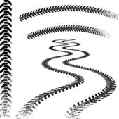 Grunge Car Tire Tracks   Clipart Graphic