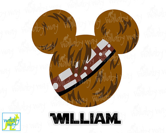 Head Star Wars Disney Printable Iron On Transfer Or Use As Clip Art