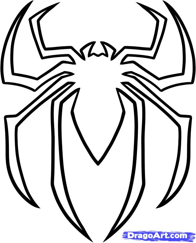 How To Draw The Spiderman Logo Spiderman Symbol Step By Step
