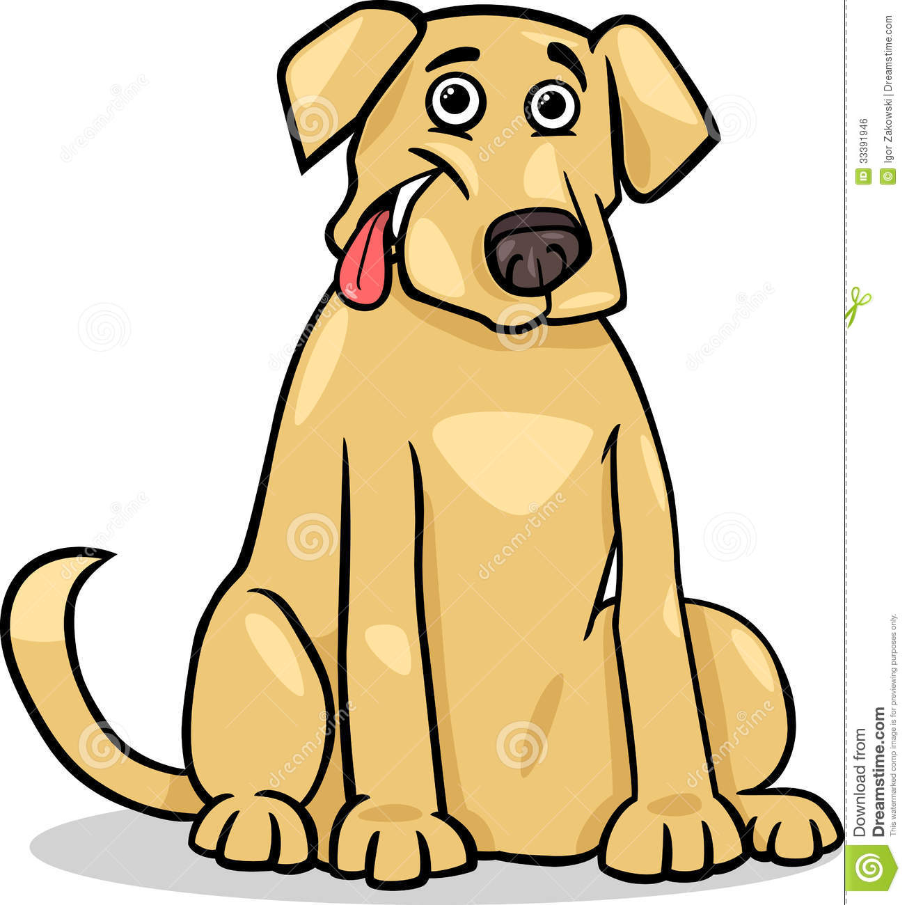 Yellow Lab Clipart - Clipart Kid