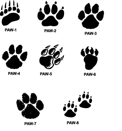 Badger Paw Prints Clipart - Clipart Kid