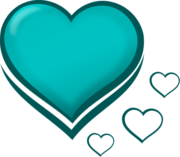 Teal Heart Clipart - Clipart Suggest