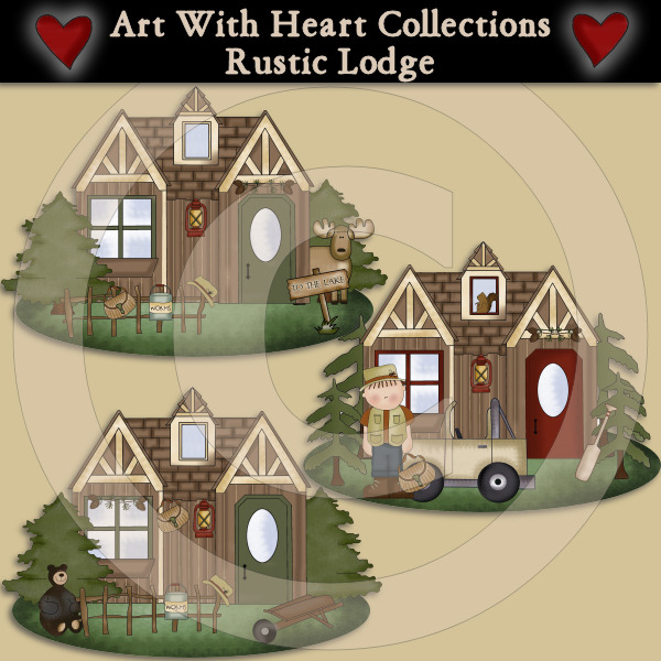 Rustic Lodge Clip Art Download     1 00   Dollar Doodles