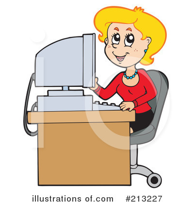 Secretary Clipart  213227   Illustration By Visekart