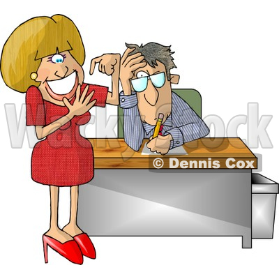 Secretary Counting Her Fingers Clipart Illustration   Dennis Cox