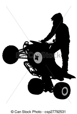 Silhouettes Athletes Atv During Races On    Csp27792531   Search Clip