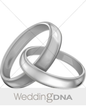 Silver Wedding Bands Clipart   Wedding Ceremony Clipart