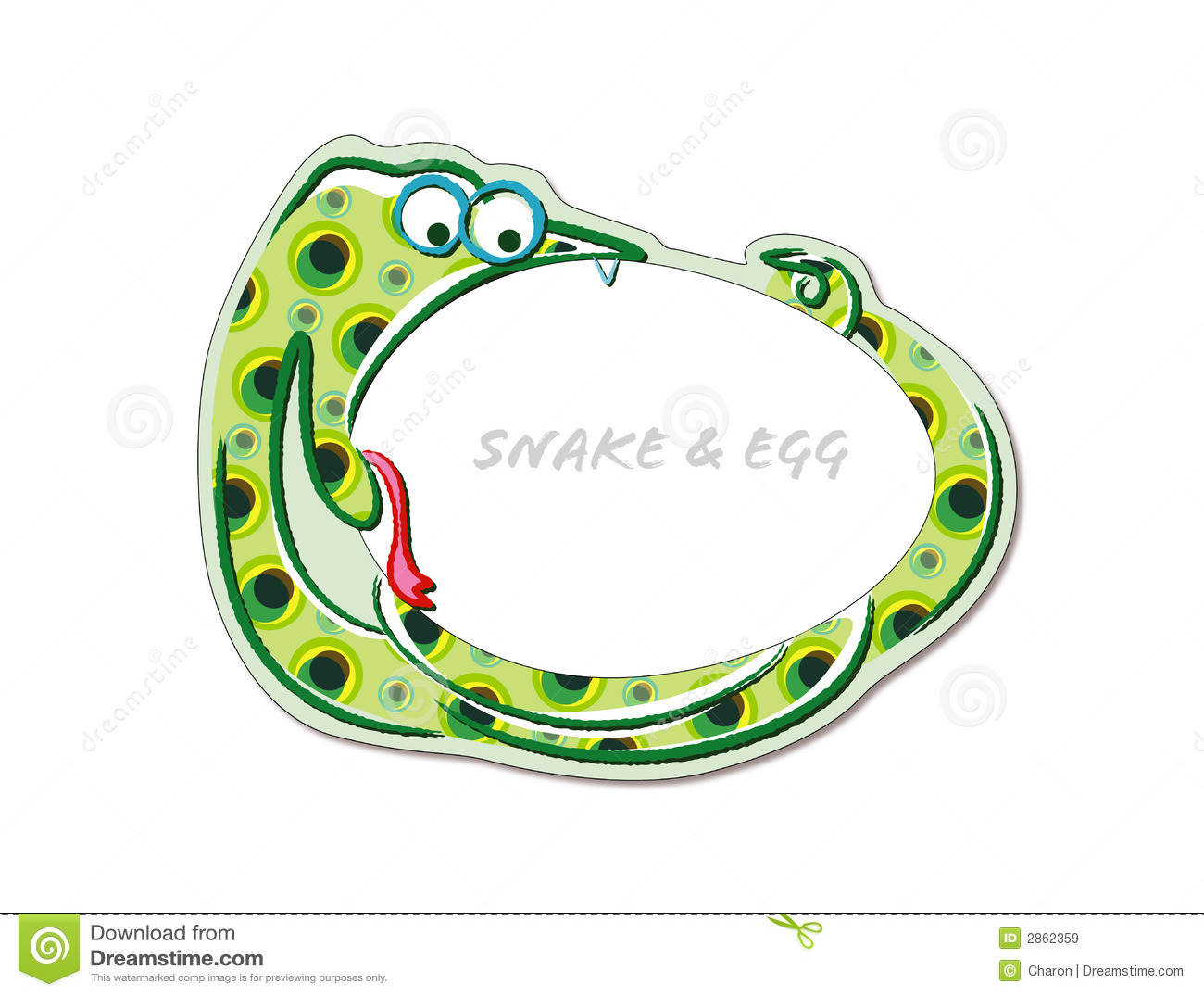 Snake Biting An Egg Cute Cartoon Royalty Free Stock Images   Image