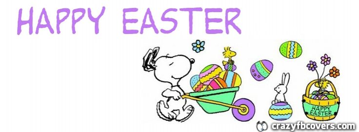 Snoopy Happy Easter Facebook Cover Fb Timeline Covers