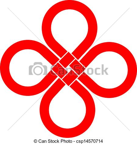 Vector Clip Art Of Cloverleaf Knot Good Luck Symbol   Cloverleaf Knot