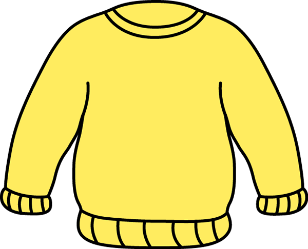 Yellow Sweater Clip Art   Big Bright Yellow Sweater