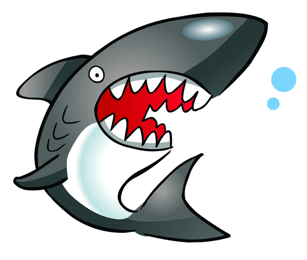 Angry shark clipart - photo#15