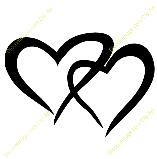 Two Hearts Wedding Clipart