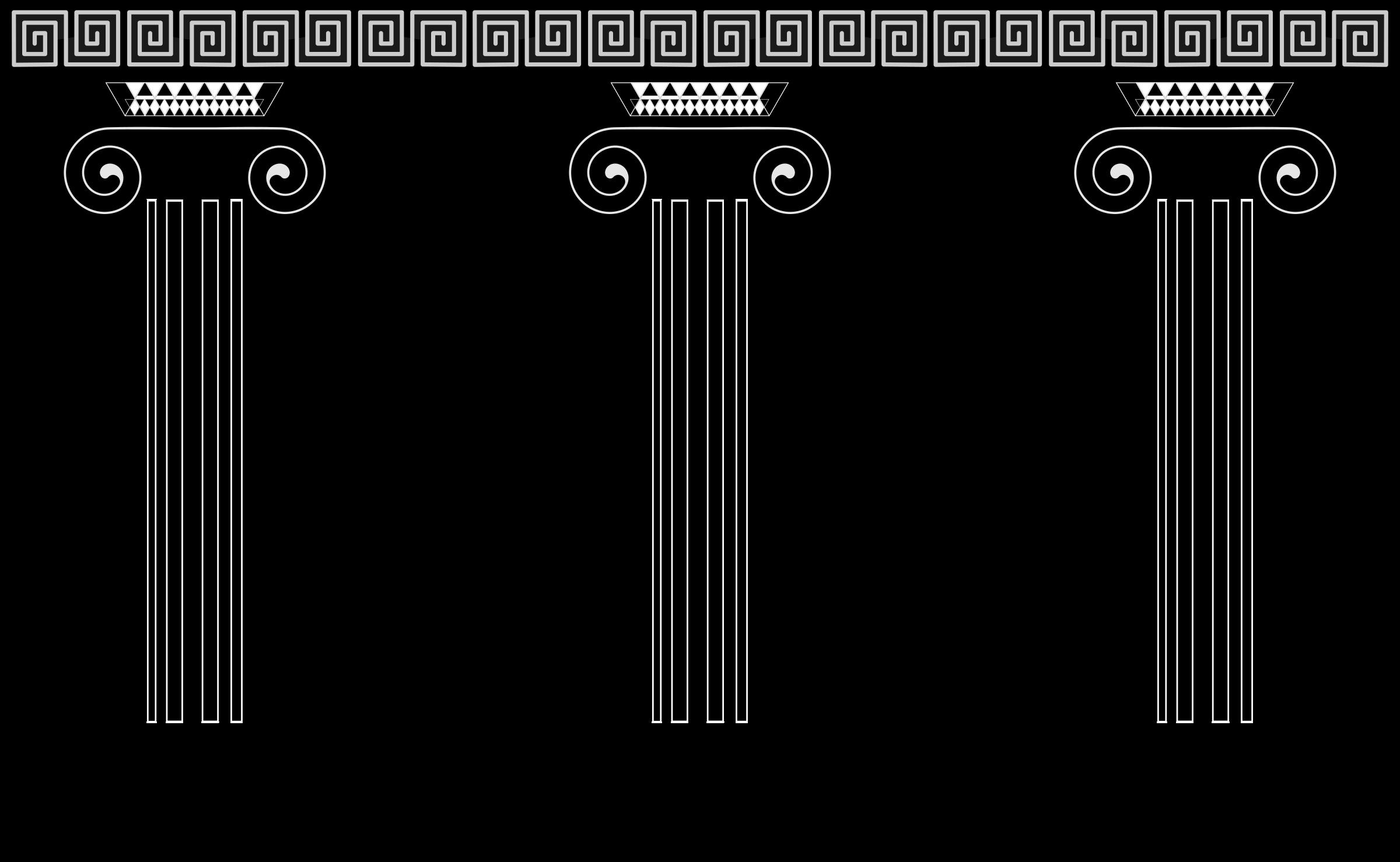 Greek Columns Clipart - Clipart - 91.5KB