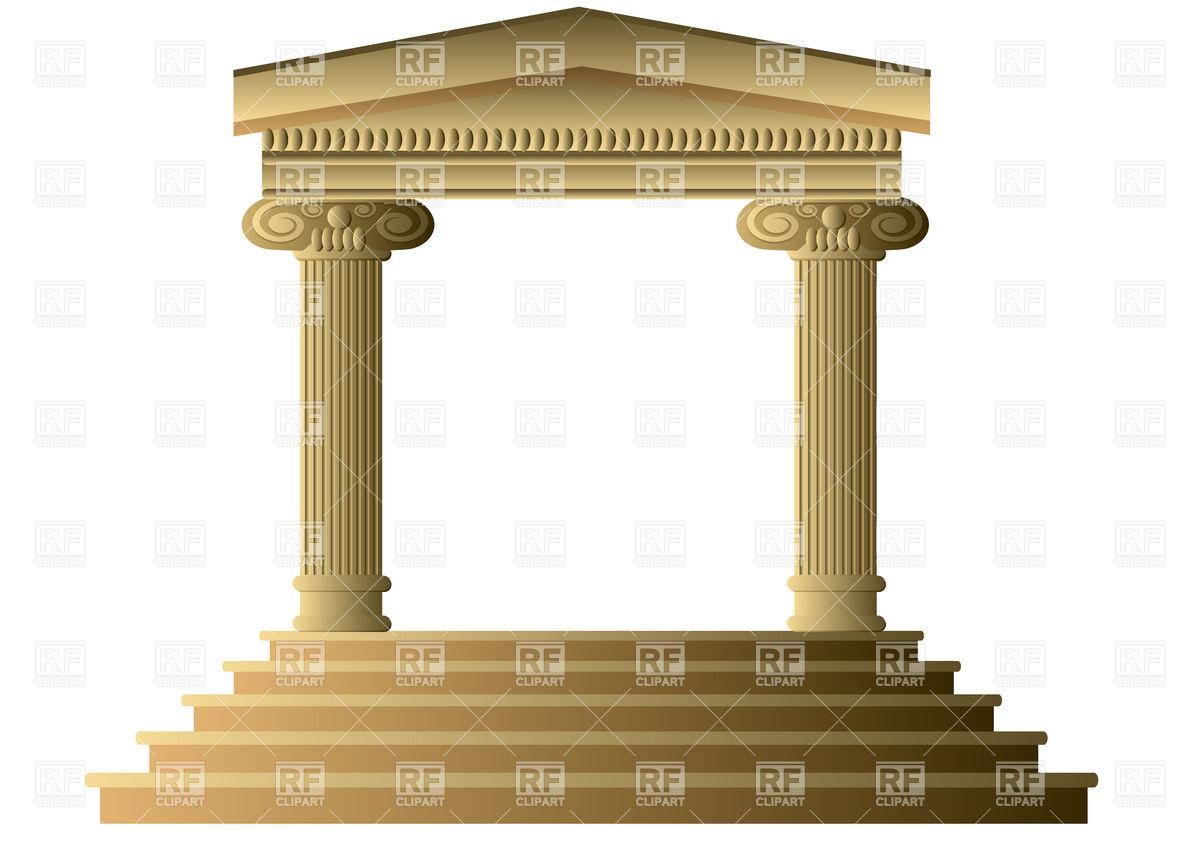 Greek Columns Clipart - Clipart - 142.7KB