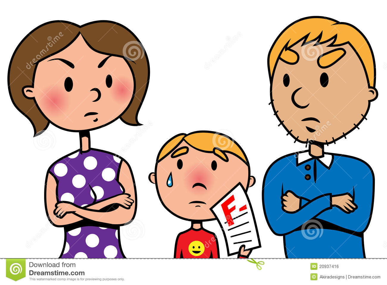 ... At Their Child Because Of Test Fail Royalty Free Stock - Clipart Kid