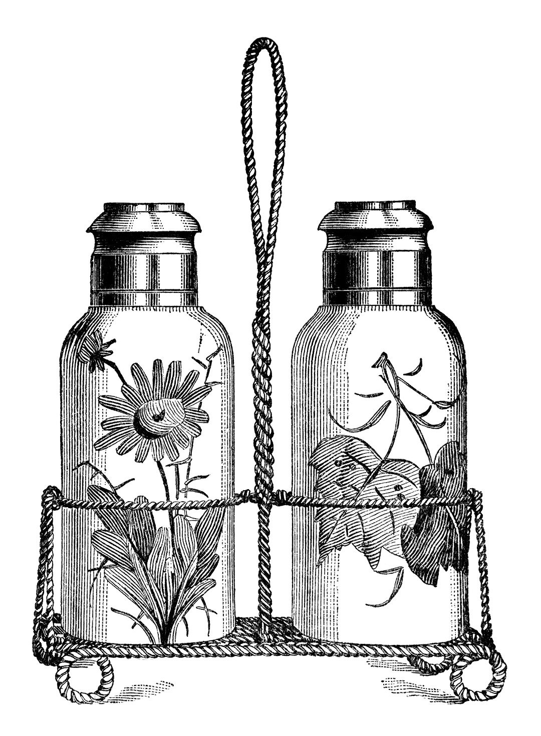 Salt And Pepper Shakers   Free Vintage Clip Art   Old Design Shop Blog