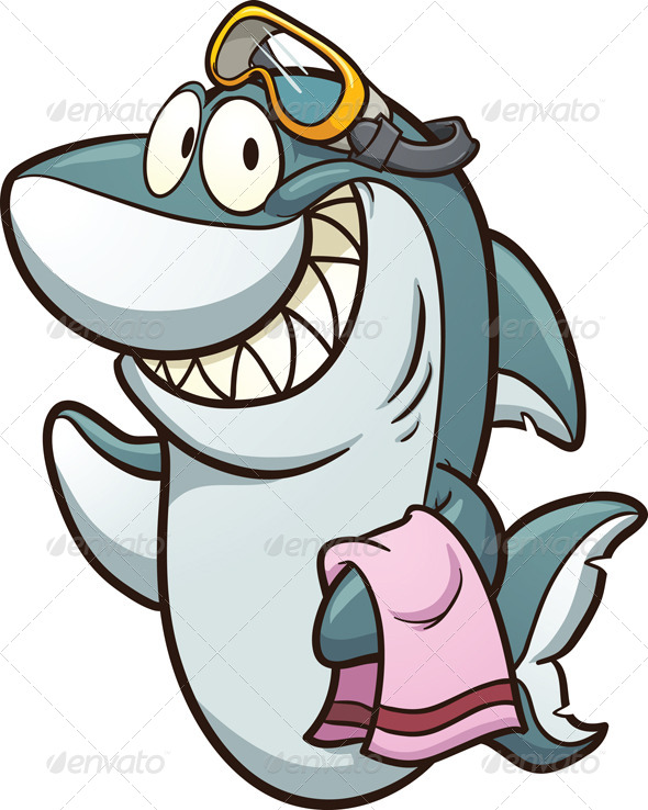 Shark With Goggles   Animals Characters