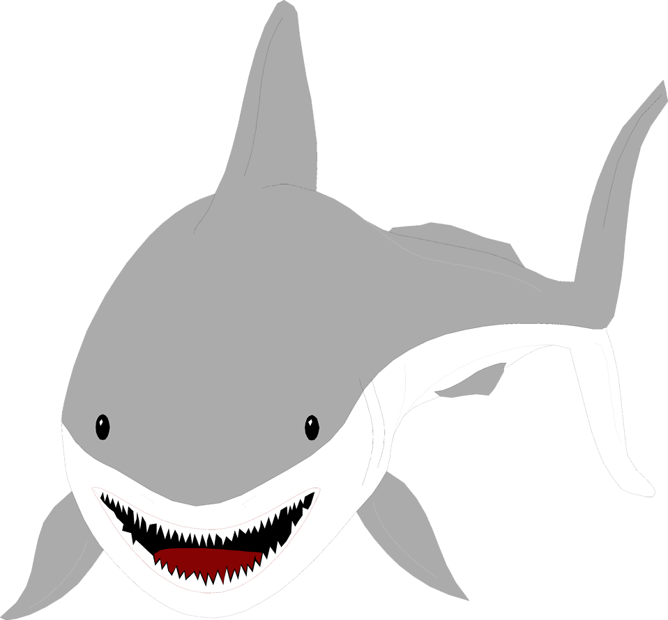 Sharks   Free Stock Photo   Illustration Of A Great White Shark