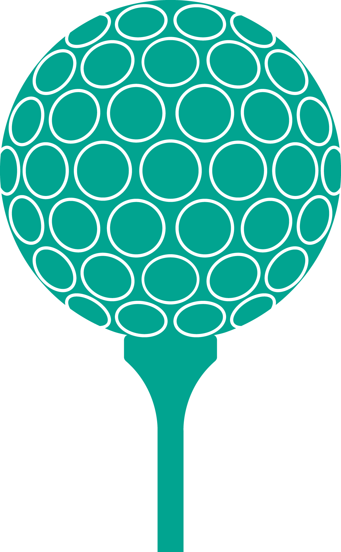 Golf ball and tee png