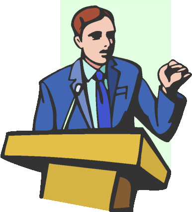 Political Candidate Forum Clip Art