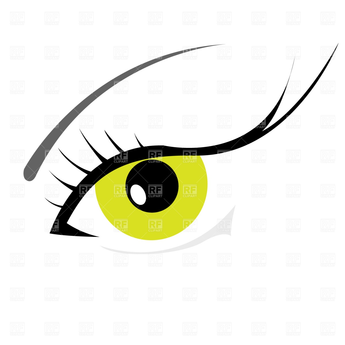 Woman S Eye With Eyelashes Download Royalty Free Vector Clipart  Eps