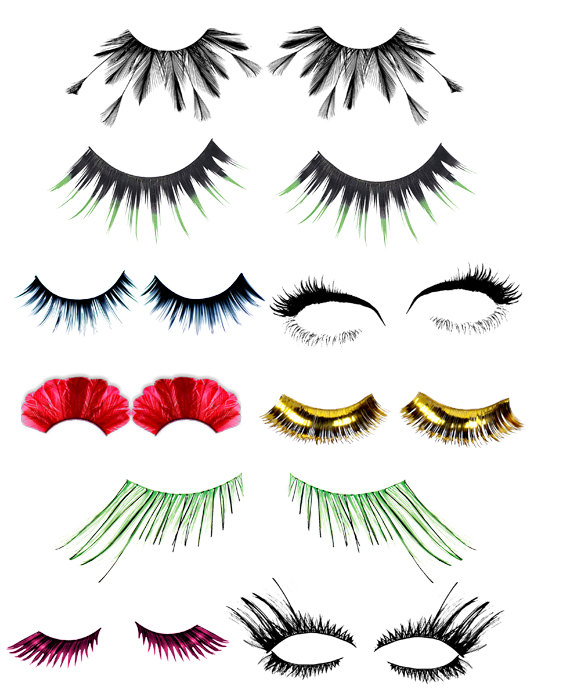 Womens Eyelashes Clip Art Png Digital Download Collage Graphics