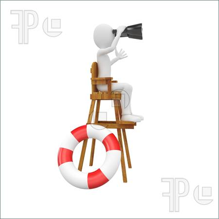 3d Man Lifeguard Illustration  Illustration To Download At Featurepics