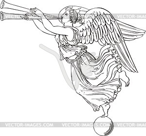 Angel  Corner    Vector Clipart