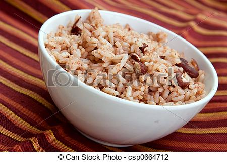 Bowl Of Beans Clip Art A Bowl Of Caribbean Style Rice