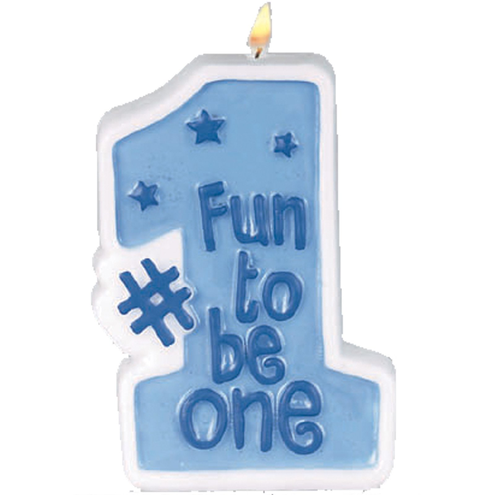 One Birthday Candle Clipart One Year Boy Cl...