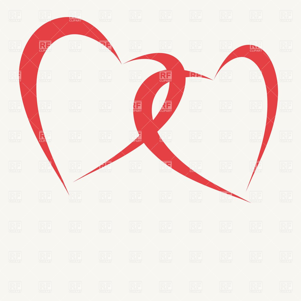 clip art double hearts free - photo #12