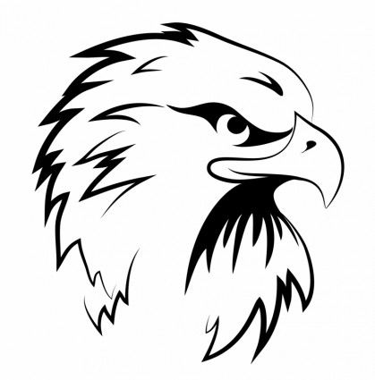 Clip Tattoo Templates Eagles Head Tattoeag Ideeen Embroidery Clip Art