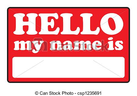 Clipart Of Hello My Name Is Tags   Blank Name Tags That Say Hello My