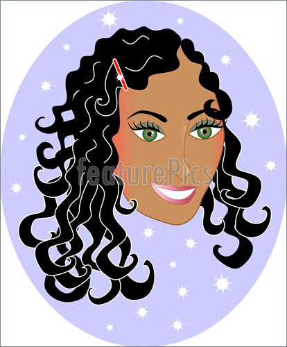 clip art curly hair girl - photo #16