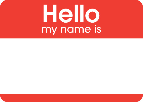 Description Hello My Name Is Sticker Svg
