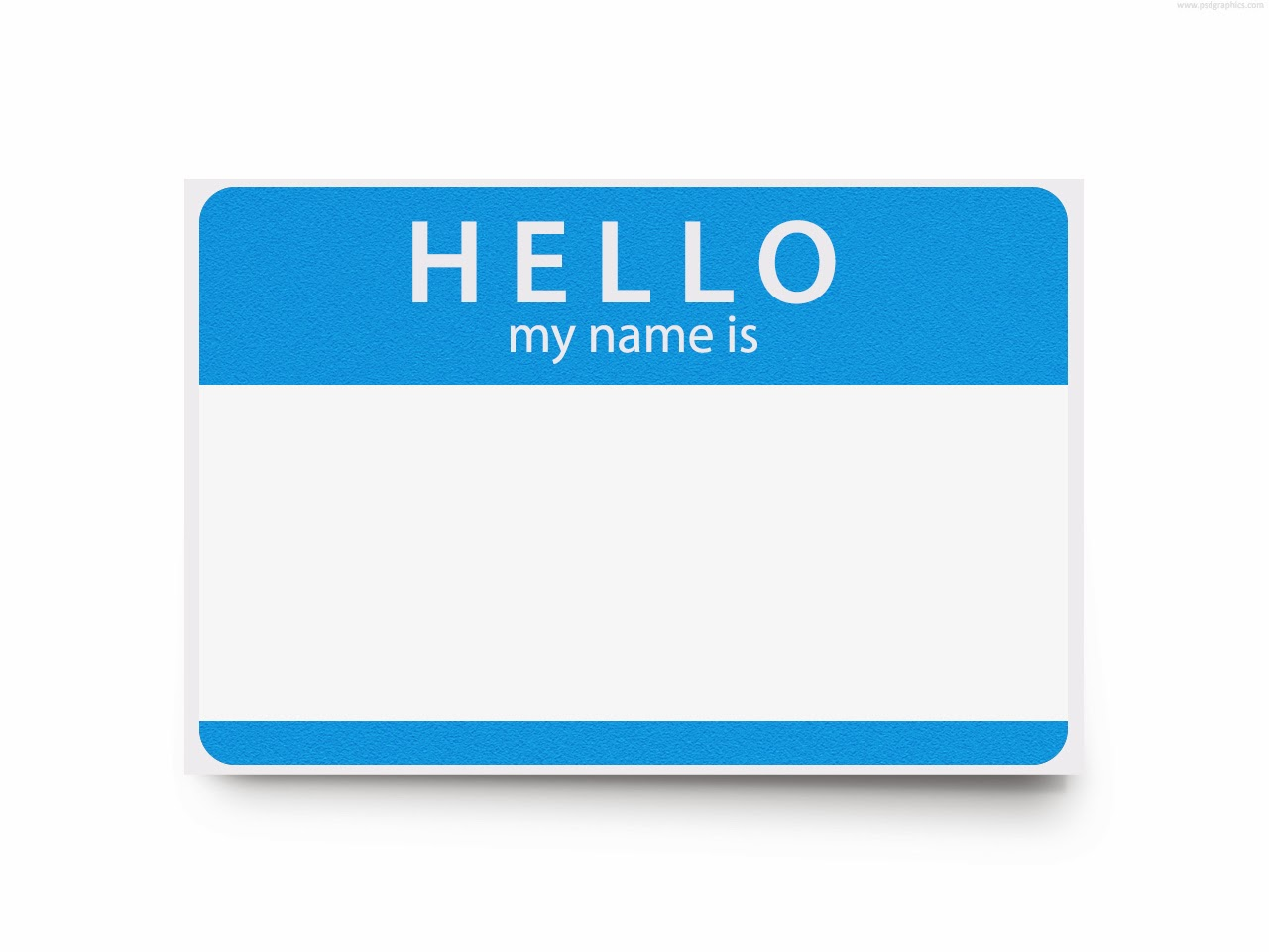 Displaying 20  Images For   Hello My Name Is Clip Art