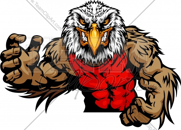 Eagle Wrestling Logo Design 1195 This Angry Eagle Wrestling Clipart